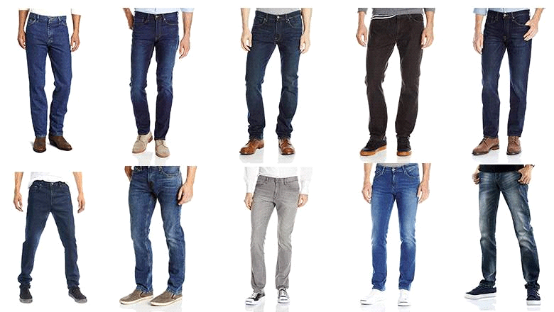 Men have worn different colors pants.