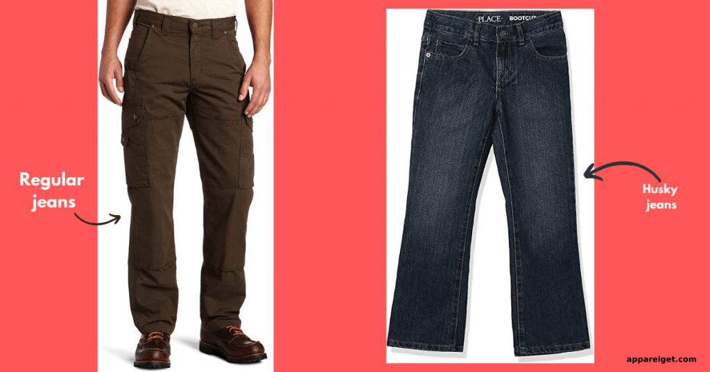 difference between husky jeans and regular jeans